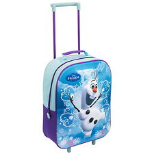 NEW OFFICIAL Frozen Olaf Disney Kids Wheeled Case Luggage Suitcase / Travel Bag