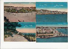Lot 4 cartes postales anciennes ITALIE ITALIA ITALY TARANTO