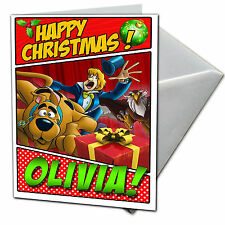 SCOOBY DOO Personalised Christmas Card! FREE 1st Class Shipping! CHRLAS16
