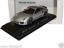 Porsche 911 991 turbo S silver Porsche Exclusive - Minichamps 1:43 WAX20140010