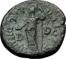 DOMITIAN 81AD Dium Dion Macedonia by Mt Olympus Athena RARE Roman Coin i59247