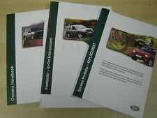 LAND ROVER FREELANDER OWNERS MANUAL HANDBOOK PACK SERVICE BOOK 1997-2003 CD BOOK