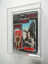 VINTAGE STAR WARS AFA 80 (80/80/80) 1983 TRI LOGO REBEL SOLDIER HOTH 79BACK MOC
