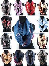 US SELLER , 6PC vintage floral paisley circle loop infinity scarf Endless