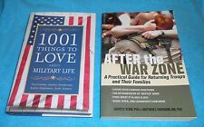 """Lot of 2 Military Family Books - """"After The War Zone"""" & """"1001 Things To..."""" EXC"""