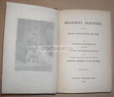 MEDICINA_PSICOLOGIA_PSICHIATRIA_MELANCONIA_ANTICA EDIZIONE_BURTON'S ANATOMY_1867