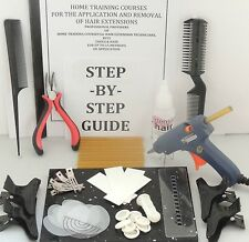 GLUE GUN FULL DIY STARTER KIT + INSTRUCTIONS FOR APP+ REMOVAL HAIR EXTENSIONS
