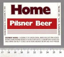 American Beer Label - Pocono Brewery - USA - Home Pilsner Beer