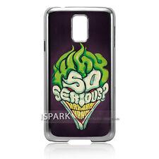 Best! Joker Batman Funny Print Samsung Galaxy S5 Silver Case Cover S1695 S