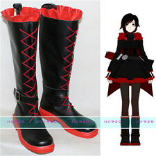 Anime RWBY Crescent Ruby Rose Cosplay Custom Costume Boots Shoes