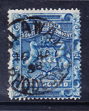 RHODESIA BRITISH SOUTH AFRICA CO SG10 £1 deep blue f/u little off-centre cat£170