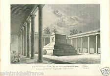 Tomb of the Mother of Solomon Iran Persia Perse GRAVURE ANTIQUE OLD PRINT 1884