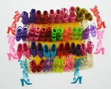 As Pic Lot 50pcs=25 Pair Barbie clothe Accessories sexy high-heel shoes/boots