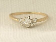 Estate 1/2 Carat 14K Yellow Gold Round Diamond Wedding Ring