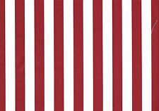 Waverly Fabric Kismet Red White Striped  Cotton Drapery Upholstery