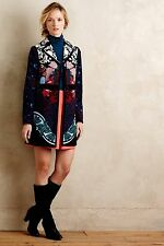 NWT Sz 00 Anthropologie Florilege Coat Vintage By Elevenses Gorgeous Size XS