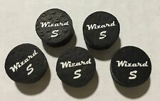 5 Wizard Black Soft Pool Cue Tip 14mm Qty 5 Tips with FREE Shipping