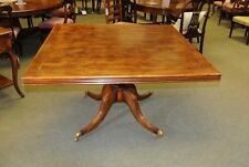 Square Pedestal Table Cherry Wood Rustic Farmhouse Dini