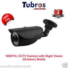 Tubros 1000TVL CCTV Camera with 30Mtr. Night Vision Bullet (Outdoor)