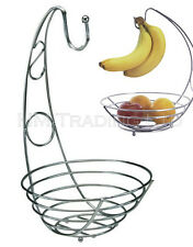 Buckingham Chrome Plated Wire Banana Tree Holder Hanger Fruit Stand Bowl Baskit