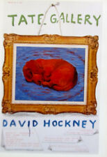David Hockney Poster Reprint  Sleeping Dog for Tate Show in the UK  No. 1