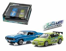 FAST AND FURIOUS 1969 CAMARO YENKO 2002 MITSUBISHI ECLIPSE 1/43 GREENLIGHT 86253