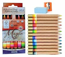 Koh-i-noor magic 3404 12 multicolore crayons + blender + aiguiseur + gomme cr