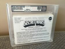 1984 Mattel Marvel Secret Wars Sears 2-Pack Mailer  IRON MAN VS. MAGNETO AFA 80!