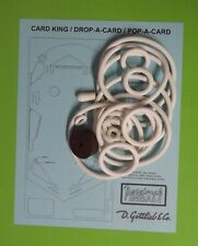 Gottlieb Card King / Drop A Card / Pop A Card pinball rubber ring kit