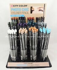 CITY COLOR 12 Color Eyeliner Set - White, Blue, Purple, Green, Teal... US SELL