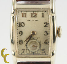 Hamilton 10k Gold Filled Hand-Winding Watch w/ Brown Leather Band Mvmt 753