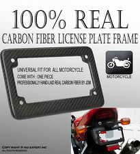 JDM 1pc For Kawasaki Carbon Fiber Motorcycle License Plate Frame Brand New TY#1