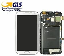 GLS DISPLAY +TOUCH SCREEN per SAMSUNG GALAXY NOTE 2 GT N7100 AMOLED Vetro BIANCO