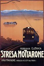Ferrovia Elettrica Stresa Mottarone Lago Maggiore Italien Zug Plakate A3 266