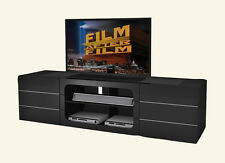 FST TV Stand Entertainment Unit 2000MM Cabinet Drawer Plasma LCD LED Black