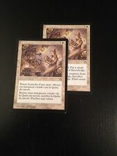 MTG MAGIC STRONGHOLD PURSUIT OF KNOWLEDGE  NM X2 (VO/VF)
