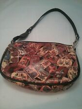 Chinese tatoo print faux leather purse