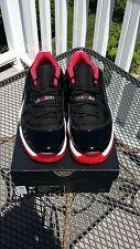Nike Air Jordan 11 Retro XI Low Bred Low Black Red MEN US 8.5