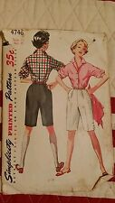 vintage Audrey Hepburn blouse  and shorts misses and junior misses