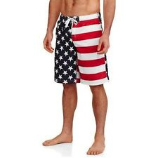 Men's USA American Flag Patriotic Board Shorts Swim Trunks Medium M NEW