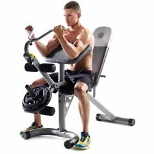 Gold's Gym XRS 20 Olympic Workout Bench Weight Lifting Training Gym Station