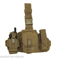Condor - Utility Drop Leg Thigh Rig - Radio & Flashlight Pouches - Tan - #MA25