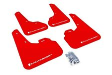 Rally Armor Mud Flaps Guards for 10-13 Mazda3 Mazdaspeed 3 (Red w/White Logo)