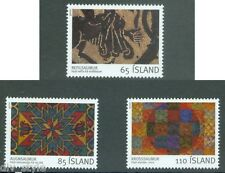 Embroidery set of 3 mnh stamps 2008 Iceland #1134-6