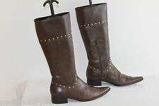Bottes Pointues TRINITY Cuir Marron T 40 TBE