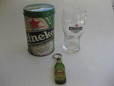 Heineken Souvenir Collector Beer Glass With Tin And Key Chain