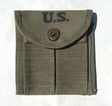 WW2 .30 M1 CARBINE  BUTTSTOCK TYPE POUCH OD Green Marked JT&L 1944