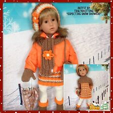 "TRULYKNITTING:OUTFIT:FITS:GOTZ:HANNAH:HAPPY/CLASSIC KIDZ 18/19"" FASHION DOLLS"
