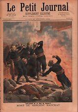 Fire Incendie Explosion Rue de Reuilly Paris Pompier Bauchat 1894 ILLUSTRATION
