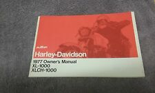STOCK HARLEY NOS IRONHEAD SPORTSTER 1977 XL XLCH-1000 OWNERS MANUAL